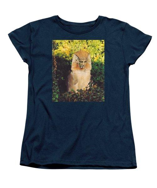 Women's T-Shirt (Standard Cut) featuring the photograph Garden Guardian by Jan Amiss Photography