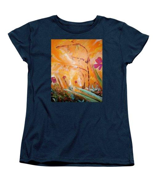 Women's T-Shirt (Standard Cut) featuring the painting Garden Moment by Winsome Gunning