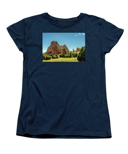 Women's T-Shirt (Standard Cut) featuring the photograph Garden Of The Gods II by Bill Gallagher