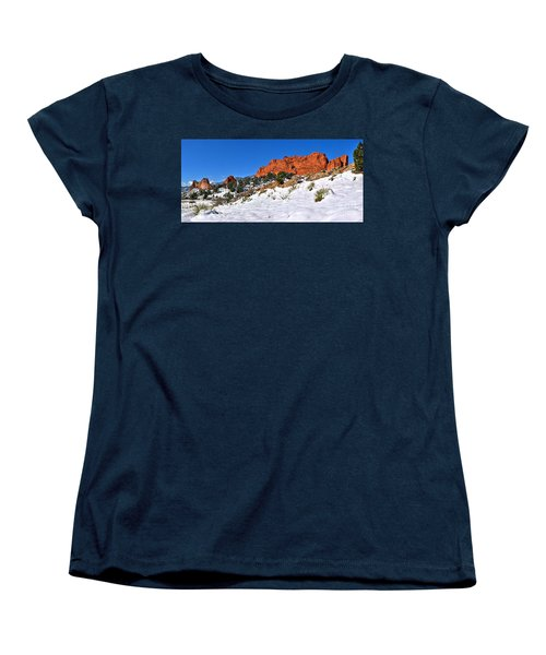 Women's T-Shirt (Standard Cut) featuring the photograph Garden Of The Gods Red And White by Adam Jewell