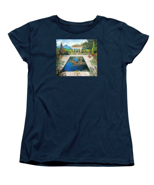 Garden Reflection Pool Women's T-Shirt (Standard Cut) by Lou Ann Bagnall