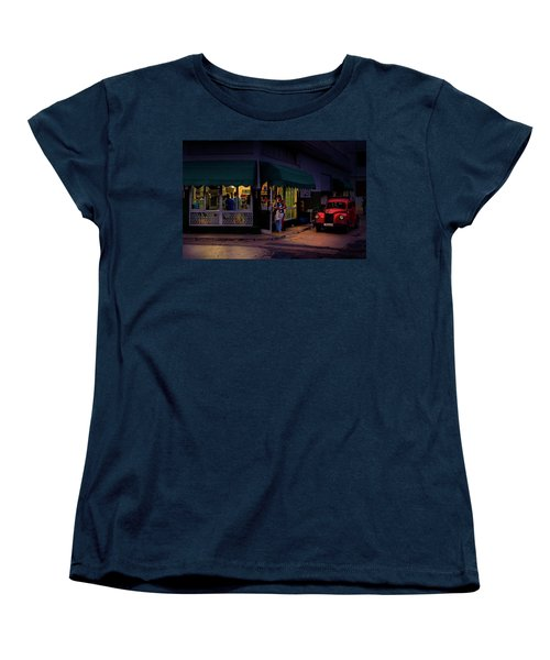 Women's T-Shirt (Standard Cut) featuring the photograph Gasolinera Linea Y Calle E Havana Cuba by Charles Harden