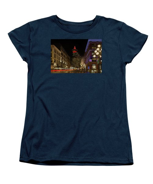 Gastown In Vancouver Bc At Night Women's T-Shirt (Standard Fit)