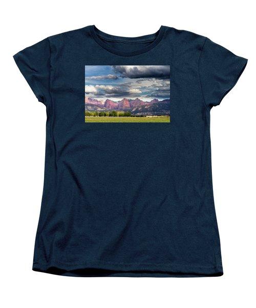 Gathering Storm Over The Fingers Of Kolob Women's T-Shirt (Standard Cut)