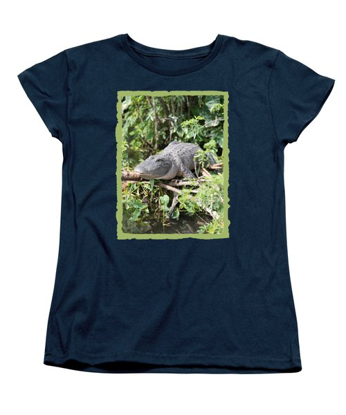 Gator In Green Women's T-Shirt (Standard Cut) by Carol Groenen