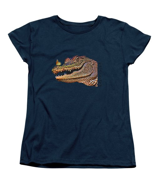 Gator Smile Women's T-Shirt (Standard Cut) by Mitch Spence