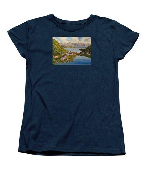 Gaultois Village Newfoundland Women's T-Shirt (Standard Cut)