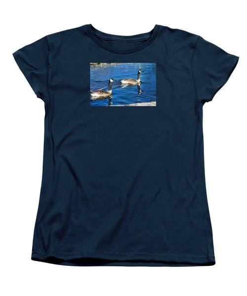 Women's T-Shirt (Standard Cut) featuring the photograph Geese by Joan Bertucci