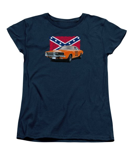 General Lee Rebel Women's T-Shirt (Standard Cut) by Paul Kuras
