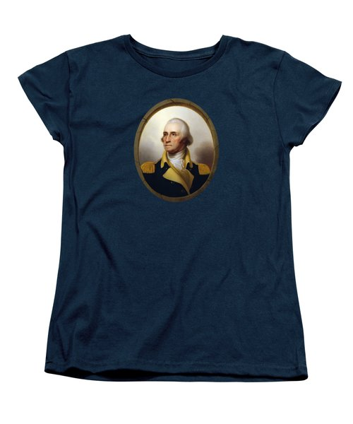 General Washington - Porthole Portrait  Women's T-Shirt (Standard Cut)