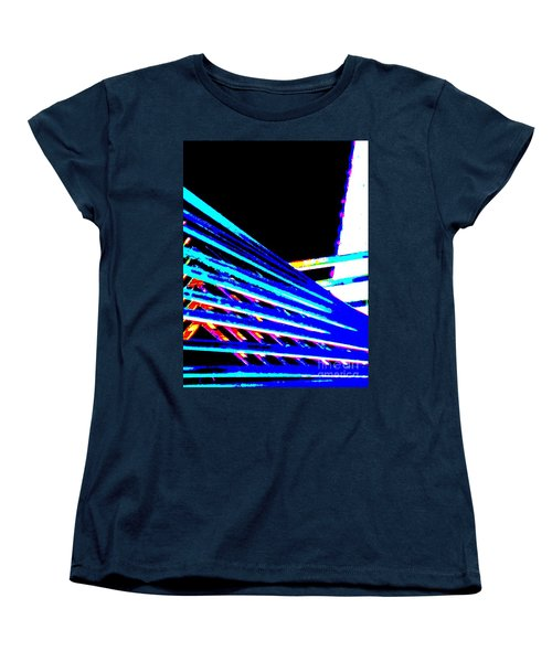 Geometric Waves Women's T-Shirt (Standard Cut) by Tim Townsend