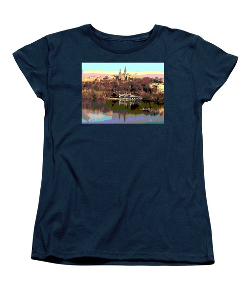 Georgetown University Crew Team Women's T-Shirt (Standard Cut) by Charles Shoup