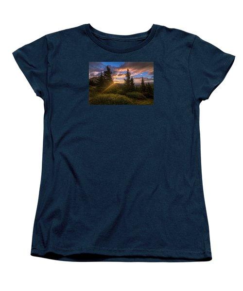 Georgia Pass Sun Rays Women's T-Shirt (Standard Cut) by Michael J Bauer