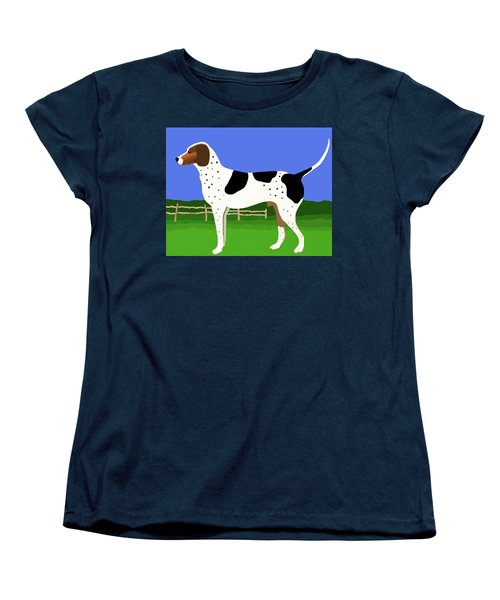 German Shorthaired Pointer In A Field Women's T-Shirt (Standard Cut) by Marian Cates