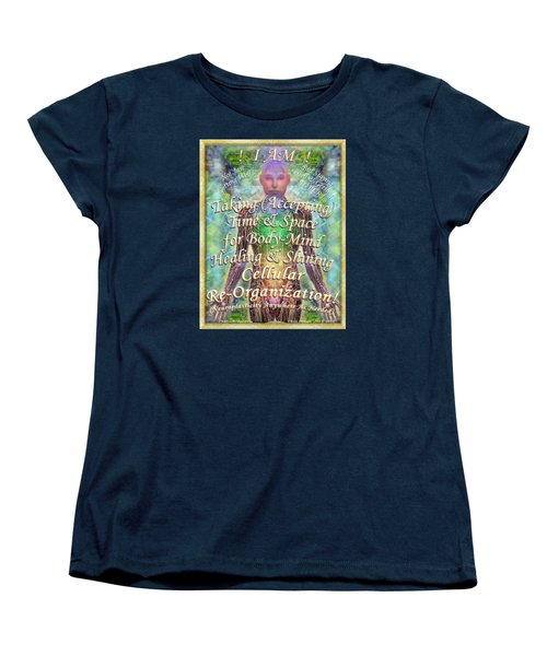 Women's T-Shirt (Standard Cut) featuring the digital art Getting Super Chart For Affirmation Visualization V2 by Christopher Pringer