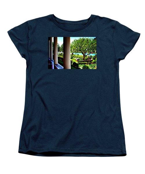 Getty Villa Peristyle Garden Women's T-Shirt (Standard Cut) by Joseph Hollingsworth