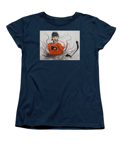 Women's T-Shirt (Standard Cut) featuring the painting Ghost Bear by Kevin F Heuman