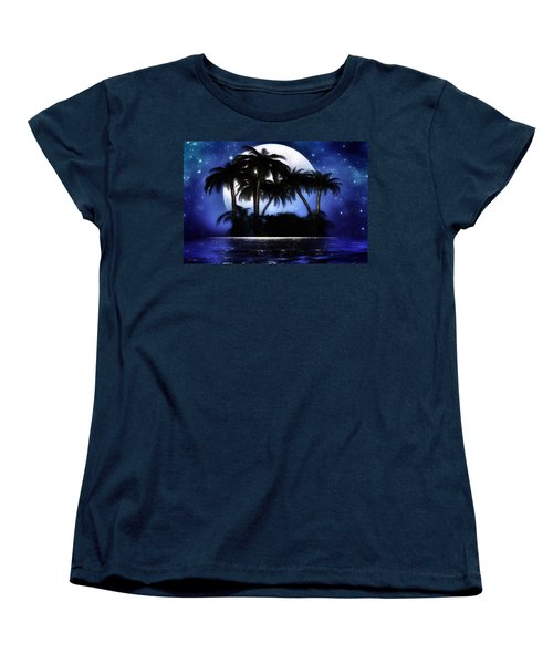 Shadow Island Women's T-Shirt (Standard Cut) by Gabriella Weninger - David