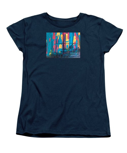 Women's T-Shirt (Standard Cut) featuring the painting Ghost Ship by Marcia Dutton