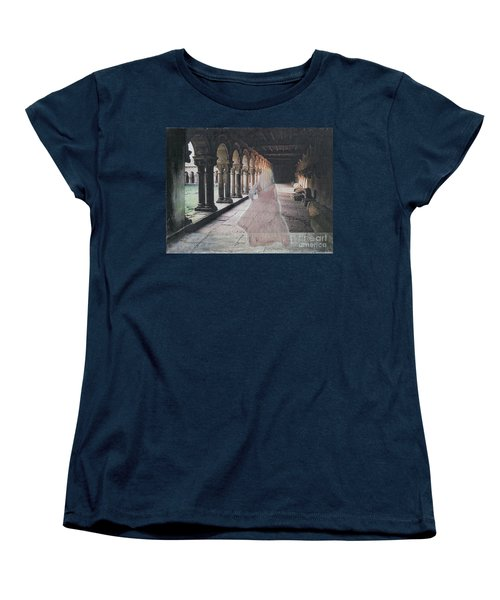 Women's T-Shirt (Standard Cut) featuring the mixed media Ghostly Adventures by Desiree Paquette