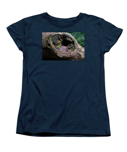 Women's T-Shirt (Standard Cut) featuring the photograph Giant Knot In Tree by Scott Lyons