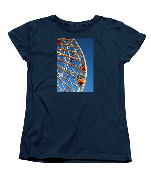 Women's T-Shirt (Standard Cut) featuring the photograph Giant Wheel by James Kirkikis