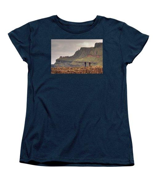 Women's T-Shirt (Standard Cut) featuring the photograph Giants Causeway by Ian Middleton