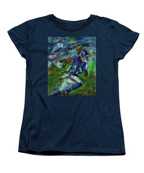 Ny Giants -  Big Blue Women's T-Shirt (Standard Cut) by Walter Fahmy