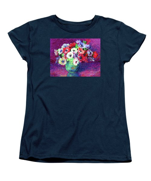 Gift Of Anemones Women's T-Shirt (Standard Cut) by Jane Small