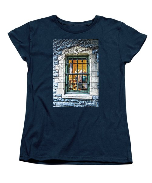 Women's T-Shirt (Standard Cut) featuring the photograph Gift Shop Window by Sandy Moulder
