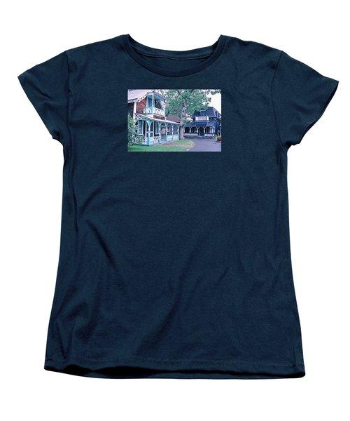 Gingerbread Houses Oak Bluff Martha's Vineyard Women's T-Shirt (Standard Cut) by Tom Wurl