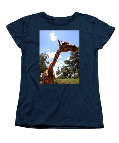 Giraffe Getting Personal 3 Women's T-Shirt (Standard Fit)