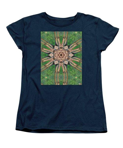Giraffe Mandala II Women's T-Shirt (Standard Cut) by Maria Watt