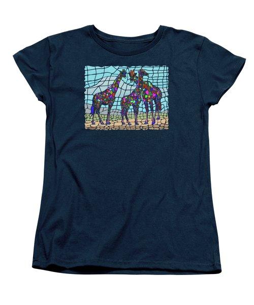 Giraffe Maze Women's T-Shirt (Standard Cut) by Anthony Mwangi