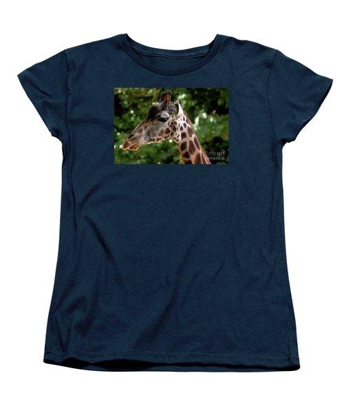 Giraffe Portrait Women's T-Shirt (Standard Cut) by Baggieoldboy