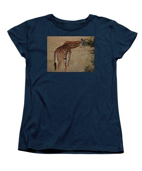Giraffes Eating - Side View Women's T-Shirt (Standard Cut) by Exploramum Exploramum