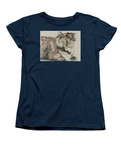 Women's T-Shirt (Standard Cut) featuring the drawing Girl  by Meagan  Visser