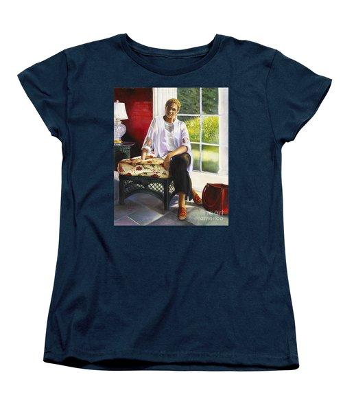 Girl Talk Women's T-Shirt (Standard Cut) by Marlene Book