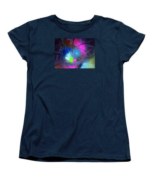Women's T-Shirt (Standard Cut) featuring the digital art Girls Love Pink by Karin Kuhlmann