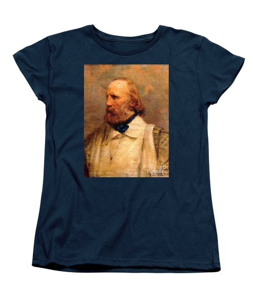 Women's T-Shirt (Standard Cut) featuring the painting Giuseppe Garibaldi by Pg Reproductions
