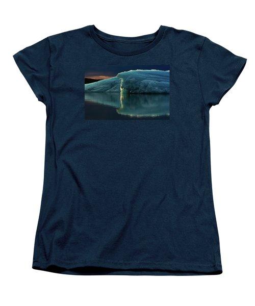 Glacial Lagoon Reflections Women's T-Shirt (Standard Cut) by Allen Biedrzycki