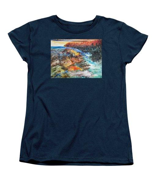 Glacial Meltdown Women's T-Shirt (Standard Cut) by Ruth Kamenev
