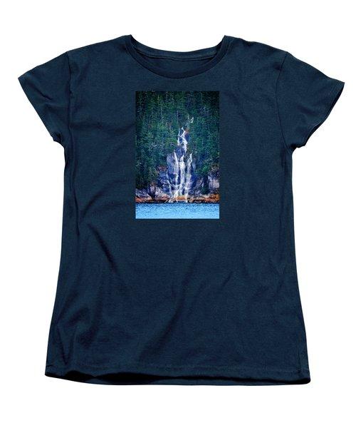 Glacier Falls 2 Women's T-Shirt (Standard Cut) by Brian Stevens