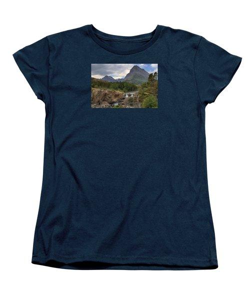 Glacier National Park Landscape Women's T-Shirt (Standard Cut) by Alan Toepfer