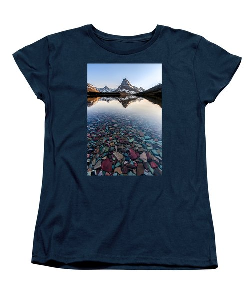 Glacier Skittles Women's T-Shirt (Standard Cut) by Aaron Aldrich