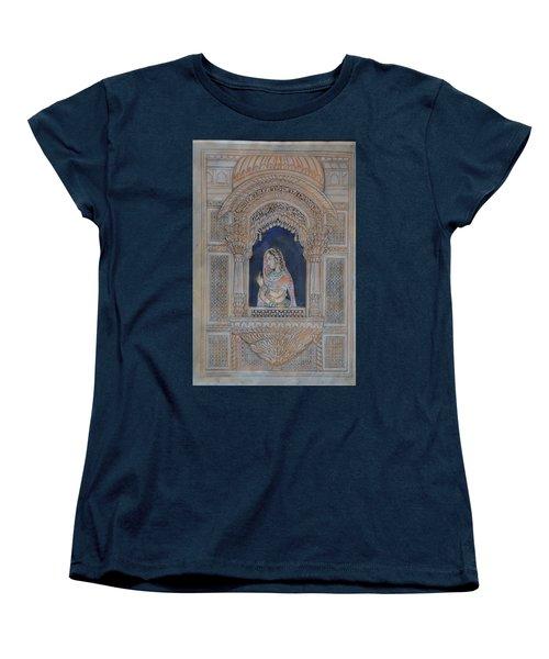 Glancing From Her Window Women's T-Shirt (Standard Cut) by Vikram Singh
