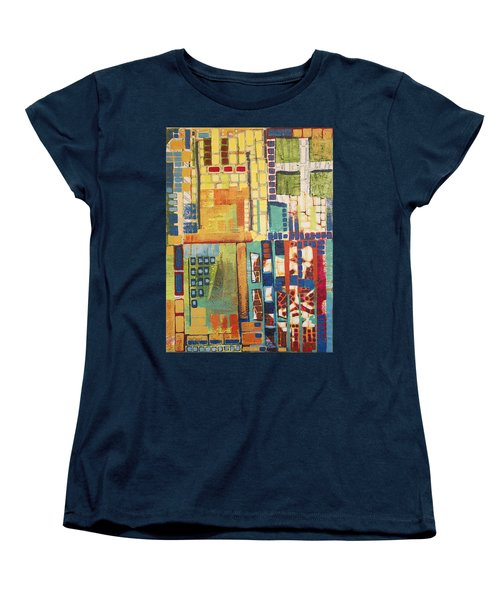 Women's T-Shirt (Standard Cut) featuring the painting Glass Bottom Boeing by Donna Howard