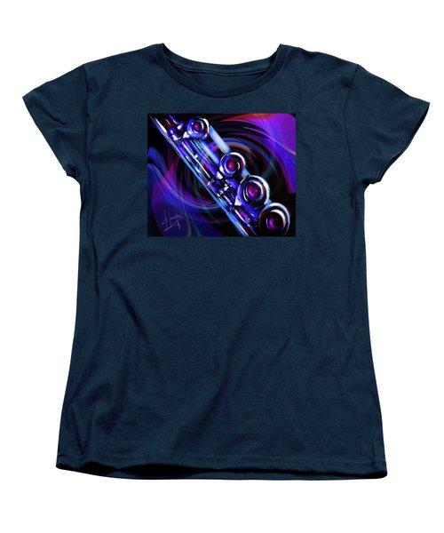 Glassical Flute Women's T-Shirt (Standard Cut) by DC Langer