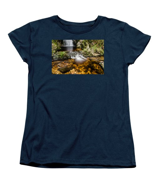 Glenevin Waterfall Clonmany Women's T-Shirt (Standard Cut) by Martina Fagan