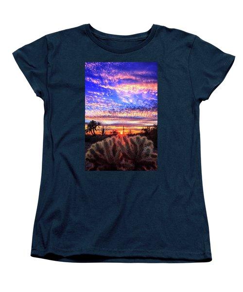 Glimmering Skies Women's T-Shirt (Standard Cut) by Rick Furmanek